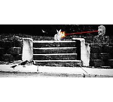 She killed the bunny with her laser vision Photographic Print