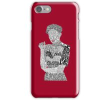Irene Adler Typography Art iPhone Case/Skin