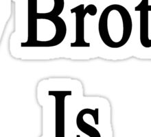 At Last My Brother Is A Trucker Sticker