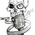 Music Skull Tattoo by Mehdals