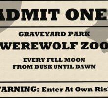 Werewolf zoo ticket Sticker