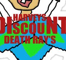 Harveys discount death rays Sticker