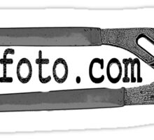 Strayfoto Channel Lock Logo BW Sticker