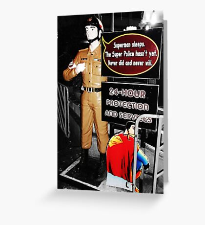 Super Police Greeting Card