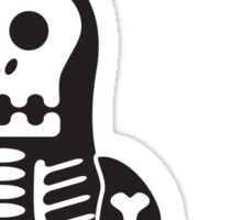Halloween Penguin - Skellybones (Skeleton) Sticker