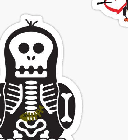 Halloween Penguin - Skellybones (Skeleton) Sticker