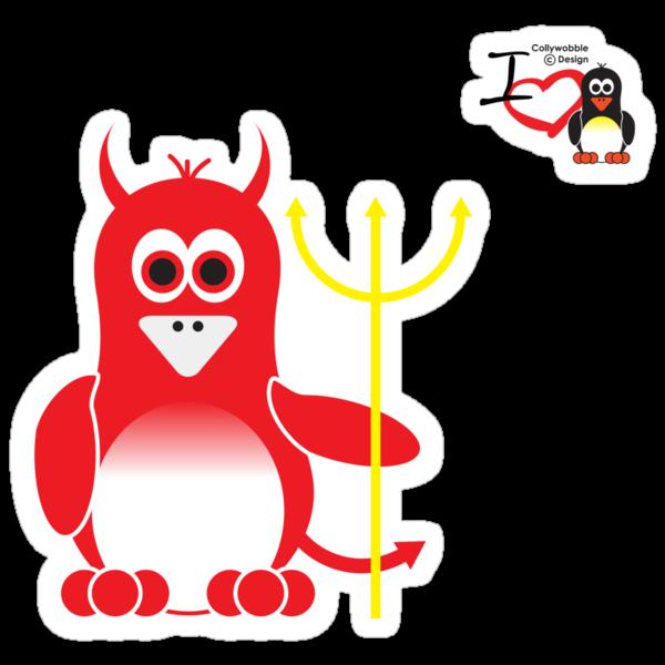 Halloween Penguin - Devil by jimcwood
