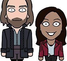 Ichabod and Abbie sticker by redscharlach