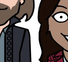 Ichabod and Abbie sticker Sticker