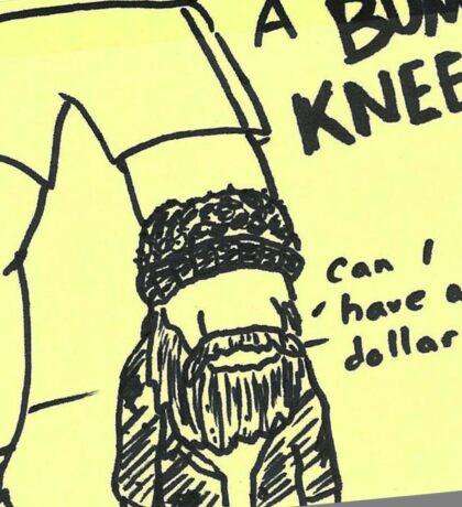 Bum Knee Sticker