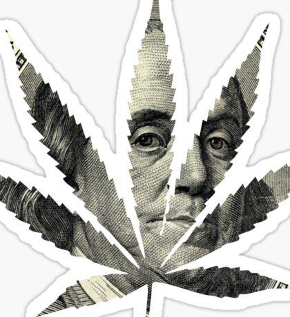 100 Dollar Pot Leaf Sticker