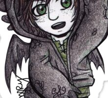 Small: Hiccup in Toothless Hoodie Sticker