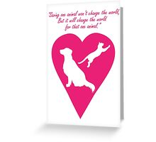 Dog and Cat Heart Greeting Card