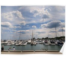 Clouds Over The Marina Poster