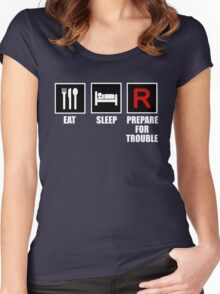 Eat, Sleep, Prepare for Trouble! Women's Fitted Scoop T-Shirt