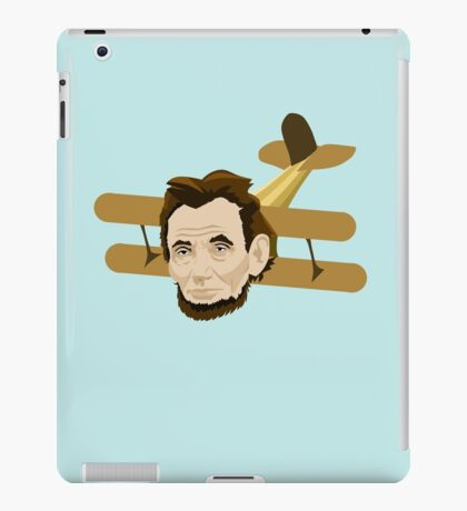 A is for Abraham Lincoln Airplane iPad Case/Skin