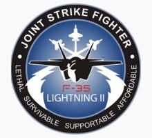 F-35 Lightning II Program Logo Kids Tee