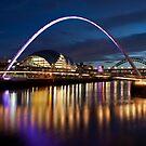 Millennium Bridge(Purple) by Great North Views