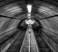 Pedestrian Tunnel Escalators by Great North Views