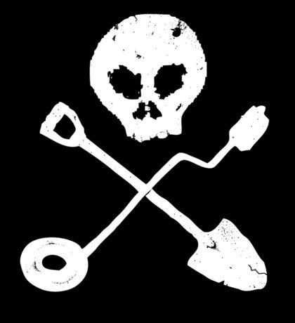 Detectorist Skull - Sondengaenger Schaedel Sticker Sticker