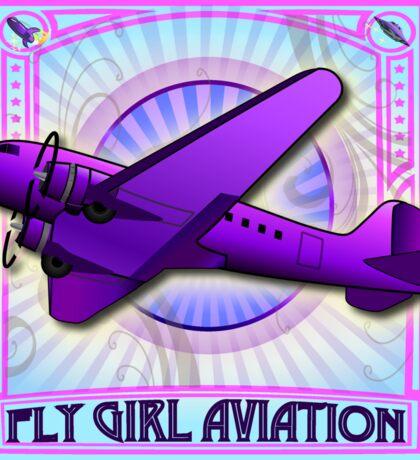 FLY GIRL AVIATION Retro AIRPLANE STICKER Sticker