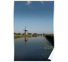Windmill in Kinderdijk Poster