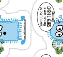 Safe-T-Hand™ Promotional 'Big Blue' Stickers Sticker
