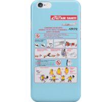 Air Tahiti ATR72 safety card iPhone Case/Skin