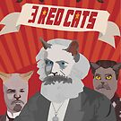 3 red cats by careball