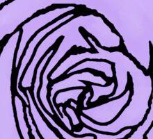 Lavender Open Rose Sticker
