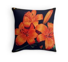 Daylilies Throw Pillow