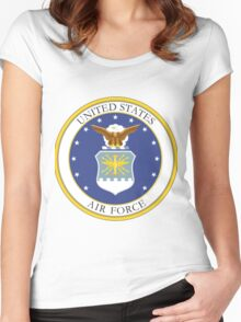 USAF Coat of Arms Women's Fitted Scoop T-Shirt