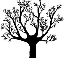Dead tree skeleton sticker by salodelyma