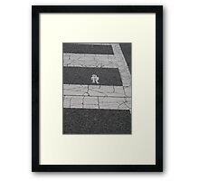 Crosswalk, Washington DC Framed Print