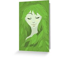 Mother Earth (Eyes Closed) Greeting Card