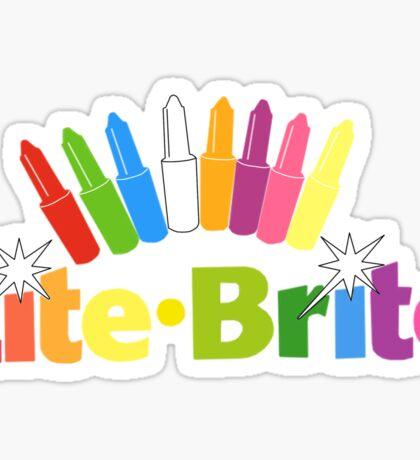 Lite Brite- Retro Toys Sticker