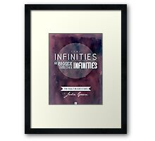 """Some infinities.."" from the book The Fault In Our Stars by John Green. Framed Print"