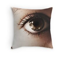 Look into my World Throw Pillow