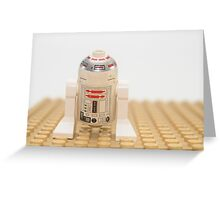 Star wars action figure R2D2 robot Greeting Card