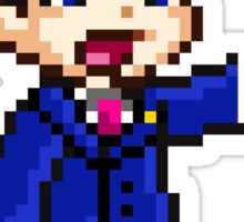 Phoenix Wright Pixel Sprite Sticker