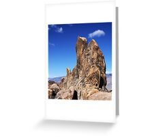 Alabama Hills Rock Formation Greeting Card