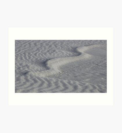 Sand Patterns 2 Art Print