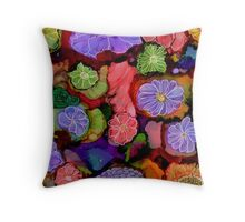 Flower Power ~ Alcohol Ink Design Throw Pillow