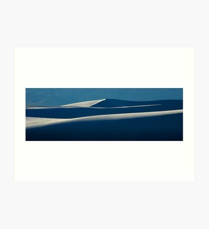 White Sands National Monument Layers Art Print