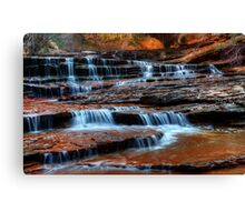 Water Cascade North Creek Utah Canvas Print