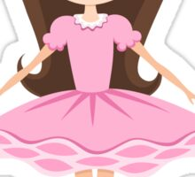 Cute ballerina girl in pink tutu stickers Sticker