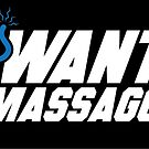Who Wants a Body Massage? (STICKER) by mikehandyart