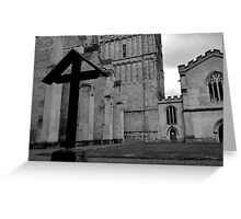 The Cross At Exeter Cathedral Greeting Card