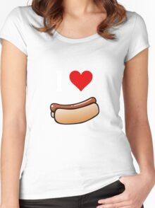 I love hot dogs Women's Fitted Scoop T-Shirt