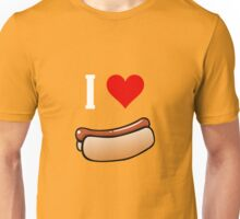 I love hot dogs Unisex T-Shirt